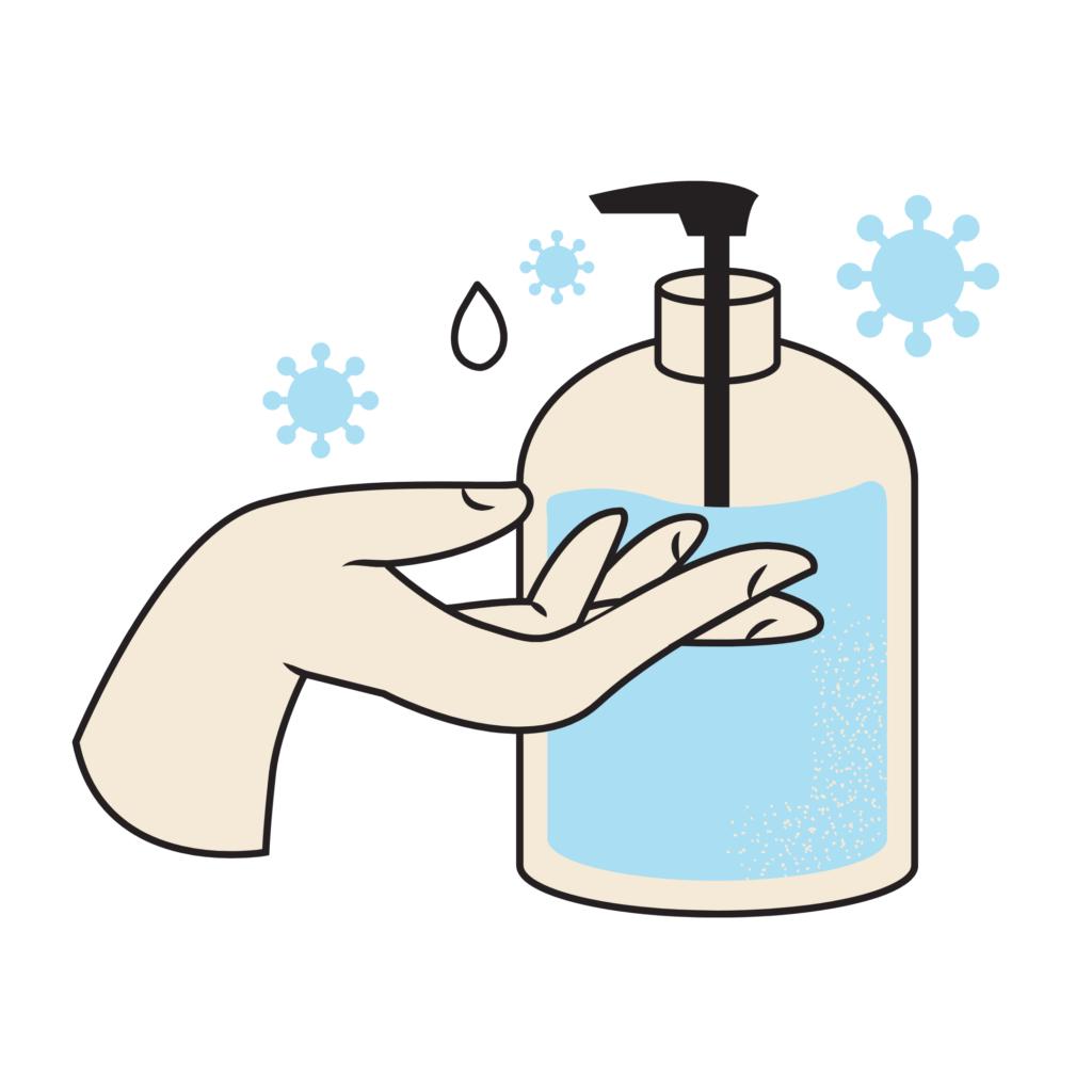 Clip Art of hand wash demonstration
