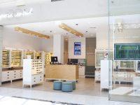 An interior shot of an optical shop